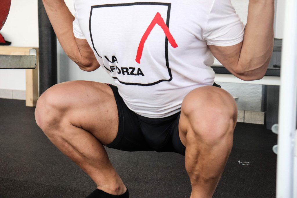 gestione delle ginocchia nello Squat