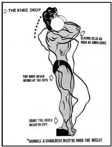 sissy squat - knee drop
